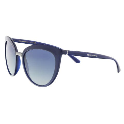 Dolce & Gabbana DG6113 30944L Opal blue Cat Eye Sunglasses - 55-18-140