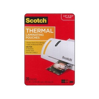 Scotch Thermal Laminating Pouch Wllet 2.5x3.8 20pc