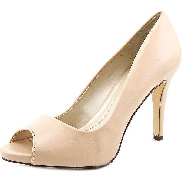 Style & Co Brandii Women Peep-Toe Synthetic Nude Heels