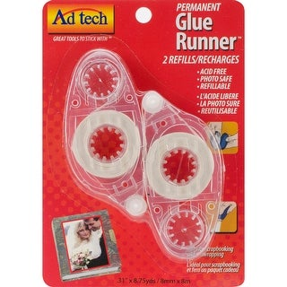 Permanent Glue Tape Runner Refill 2/Pkg