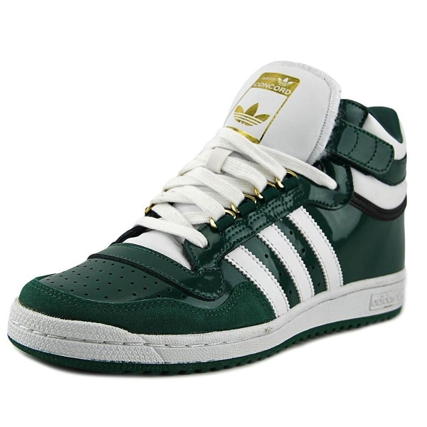 new product 8f2af 18c37 Adidas Concord 2.0 Mid Men Round Toe Patent Leather Green Sneakers