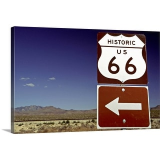 """Route 66 sign, Arizona"" Canvas Wall Art"
