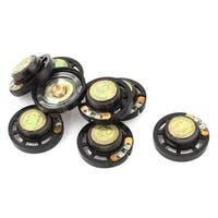 Unique Bargains 8Pcs 0.25W 8 Ohm 29mm Dia External Magnet Loudspeaker Speaker Horn Black