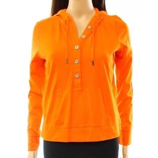 Lauren Ralph Lauren NEW Cabana Orange Women's Size XS Henley Hoodie
