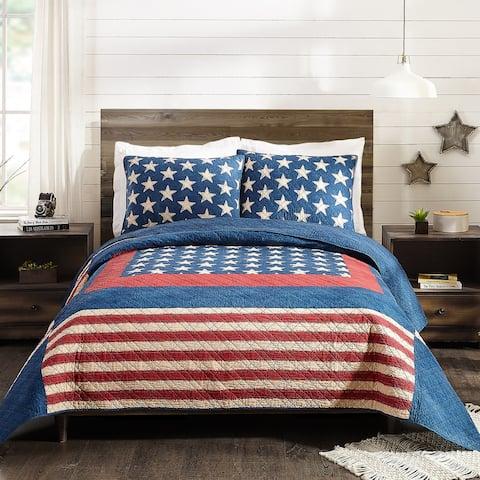 Modern Heirloom Americana Patch Quilt Set