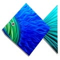 Statements2000 Large Blue / Green Tropical Fish Metal Wall Art Accent by Jon Allen - Big Blue Fish - Thumbnail 1