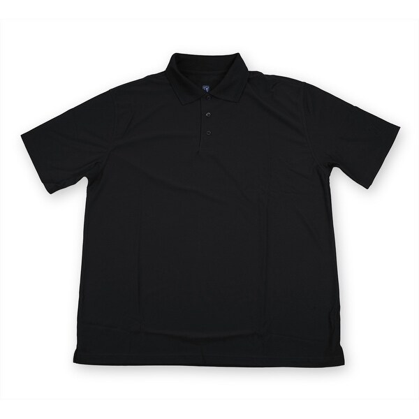 PGA TOUR Men's Polo Shirt - Black Solid - 2X Large