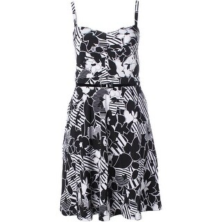 City Chic Womens Casual Dress Floral Print Adjustable Straps