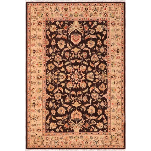 """Shabby Chic Ziegler Vina Hand Knotted Area Rug -6'1"""" x 8'10"""" - 6 ft. 1 in. X 8 ft. 10 in."""