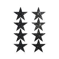 Mini Black Glitter Star Pasties, Black Glitter Pasties - One Size Fits most
