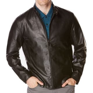 Perry Ellis NEW Brown Mens Size Medium M Faux-Leather Bomber Jacket|https://ak1.ostkcdn.com/images/products/is/images/direct/8f6df942f985f4609489502dccc3c671a6da6df9/Perry-Ellis-NEW-Brown-Mens-Size-Medium-M-Faux-Leather-Bomber-Jacket.jpg?impolicy=medium