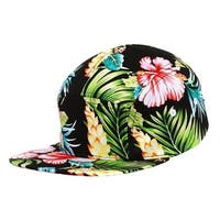 City Hunter Plain Flower 5 Panel Adjustable Hat