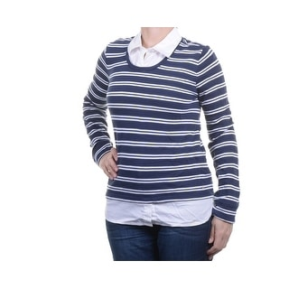 Tommy Hilfiger Striped Layered Long Sleeve Sweater - XL