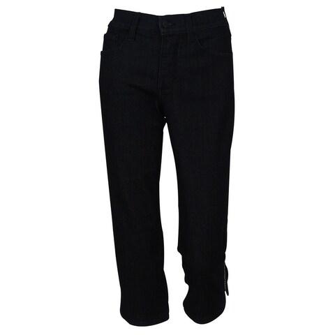 NYDJ Women's Original Slimming Fit Crop Denim Pants - Dark Blue Wash