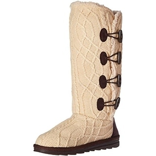 Muk Luks Womens Mid-Calf Boots Knit Lined - 9 medium (b,m)