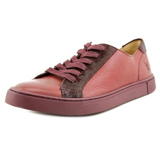 Frye Gemma Low Lace Round Toe Leather Sneakers