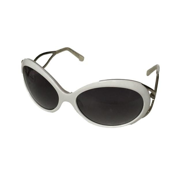 Esprit Sunglass 19242 536 Womens Oval White Silver Plastic, Gradient Lens - Medium