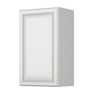 """Sunny Wood SLW1830-A Sanibel 18"""" x 30"""" Single Door Wall Cabinet - off white with charcoal glaze - N/A"""