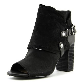 Fergie Roland Women  Round Toe Leather Black Ankle Boot