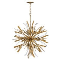"Fredrick Ramond FR40905 Vida 13-Light 36"" Wide Sputnik Chandelier - Burnished Gold - n/a"
