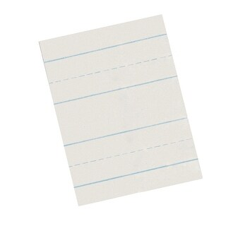 School Smart Skip-A-Line Ruled Writing Paper, 1/2 Inch Ruled Long Way, 11 x 8-1/2 Inches, Pack of 500