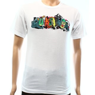 Quiksilver NEW Gray Mens Size XL Graphic Animated Printed Tee T-Shirt