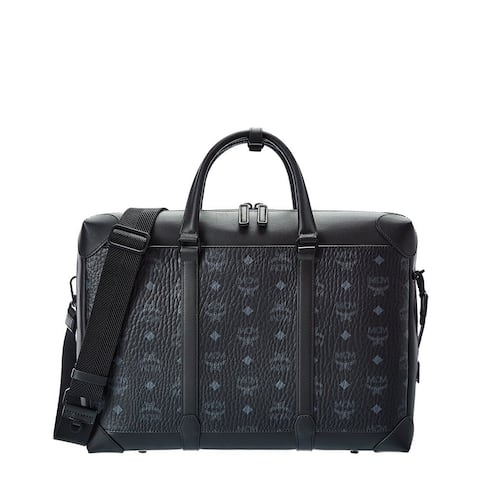 Mcm Soft Berlin Visetos & Leather Briefcase