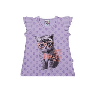 Toddler Girl T-Shirt Infant Kitty Graphic Tee Pulla Bulla Sizes 1-3 Years (2 options available)
