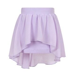 Richie House Girls' Knit Skirt with Irregular Chiffon Covered
