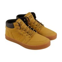 Osiris Helix Mens Tan Leather Lace Up Sneakers Shoes