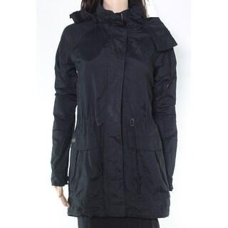 Columbia Womens Jacket Black Size Medium M Full Zip Hooded Drawstring