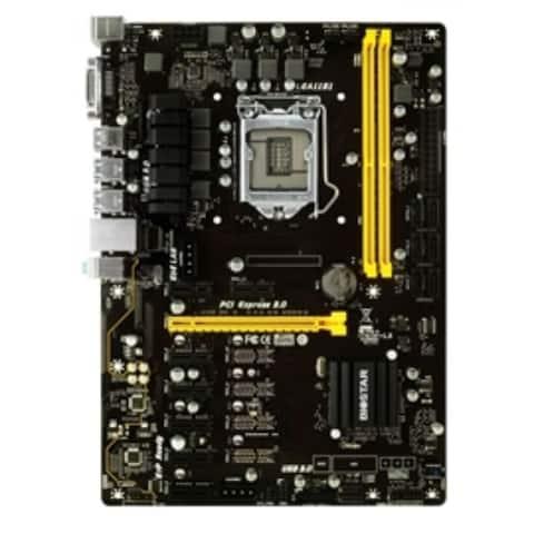Biostar Motherboard TB250-BTC+ Core i7/i5/i3 LGA1151 B250 DDR4 SATA 8xPCI Express USB3.0 ATX Retail