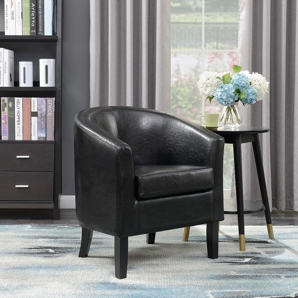 Shop Belleze Modern Club Chair Accent Elegance Faux