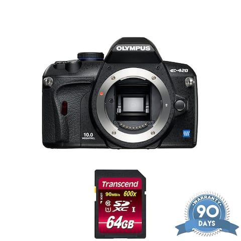 Olympus E-420 SLR Digital Camera (Camera Body) - with Memory Card -