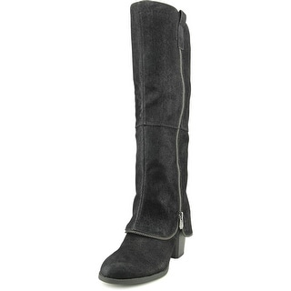 Fergalicious Tune Up Round Toe Canvas Knee High Boot