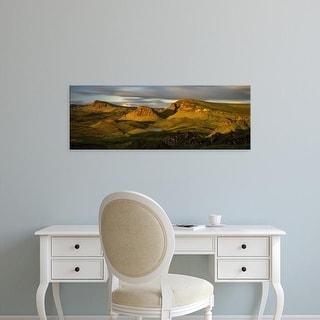 Easy Art Prints Panoramic Images's 'Trotternish Ridge in morning light, Isle of Skye, Scotland' Premium Canvas Art