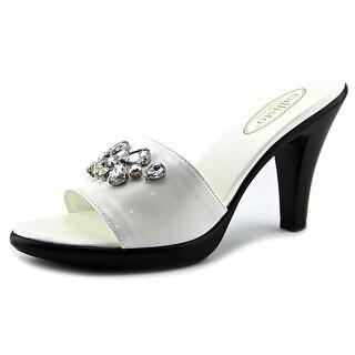Callisto Womens LUSTER Open Toe Formal Slide Sandals