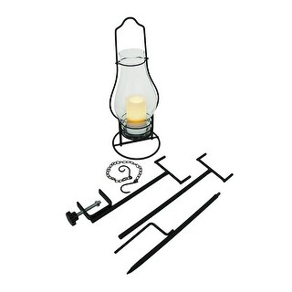 4 in 1 Glass Candle Lantern w/LED Flameless Candle - Clear