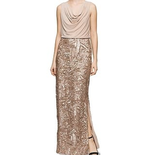 Calvin Klein NEW Beige Womens Size 6 Cowl-Neck Sequined Maxi Dress|https://ak1.ostkcdn.com/images/products/is/images/direct/8f76f3bdcd2df12f00071e03e57bb18c8c995f15/Calvin-Klein-NEW-Beige-Womens-Size-6-Cowl-Neck-Sequined-Maxi-Dress.jpg?impolicy=medium