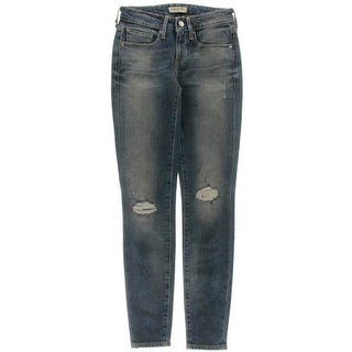 Levi's Womens Empire Destroyed Mid-Rise Skinny Jeans - 24