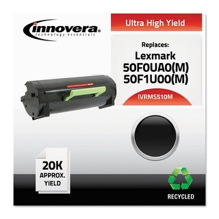 """Innovera Remanufactured 50F0UA0 (MS510M) MICR Toner, Black Remanufactured 50F0UA0 (MS510M) Ultra High-Yield MICR Toner, Black"""