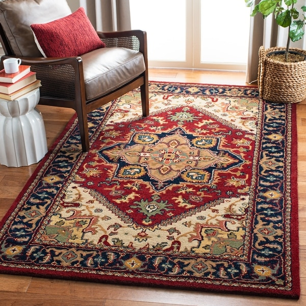 Safavieh Handmade Classic Ethie Traditional Oriental Wool Rug. Opens flyout.