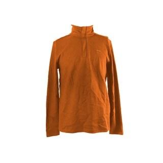 Calvin Klein Orange Quarter-Zip Pullover Sweater XL