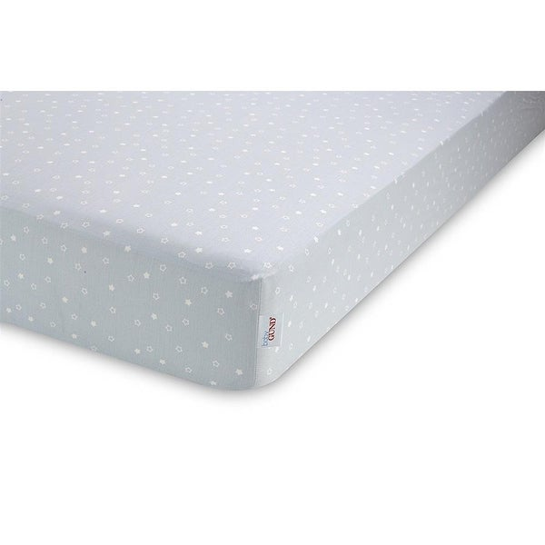 Baby Gund Twinkle Deluxe Crib Sheet - Light Blue