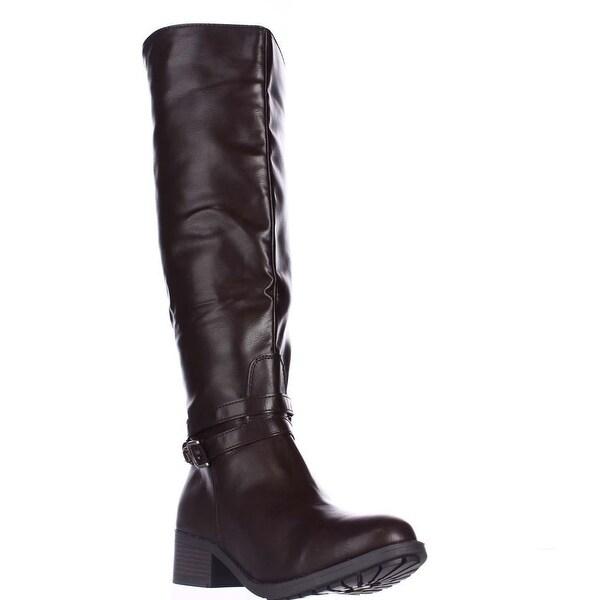 Rampage Imelda Knee-High Riding Boots, Brown