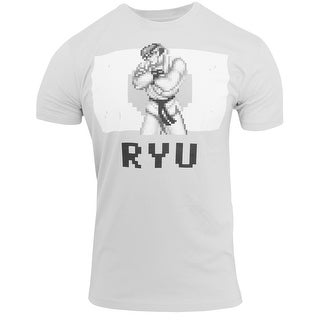 Capcom Victory Series Ryu Premium Fitted T-Shirt - Silver (3 options available)