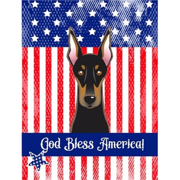 Shop God Bless American Flag With Doberman Canvas House Flag Free