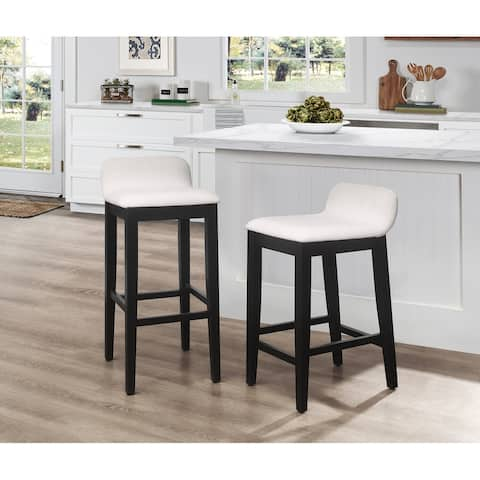 Hillsdale Furniture Maydena Black and Beige Stool