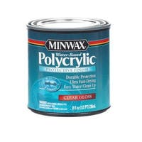 Minwax 25555 Polycrylic Protective Finish, 1/2 Pint, Gloss