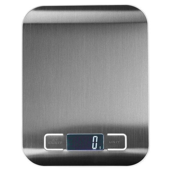 Sunnydaze Stainless Steel Multifunction Digital Food Scale with LCD Display